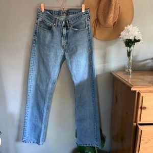 Levi's 505 Light Wash Straight Leg Jeans